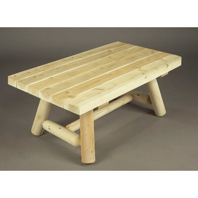 Rustic Natural Cedar Furniture Coffee Table