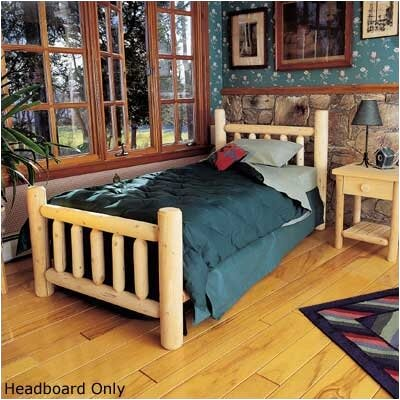 Rustic Cedar Rustic Log Bed Slat Headboard & Reviews | Wayfair