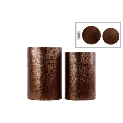 Urban Trends 2 Piece Cylindrical End Table Set