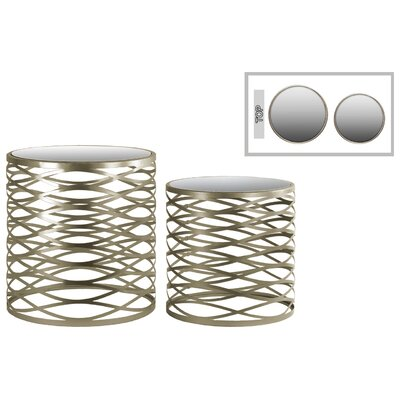 Urban Trends Metal Round 2 Piece Nesting Tables