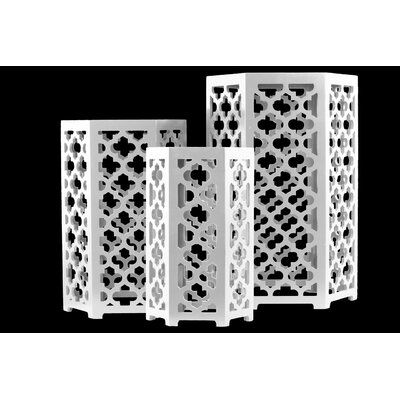 Urban Trends Wood Hexagonal 3 Piece Nesti..