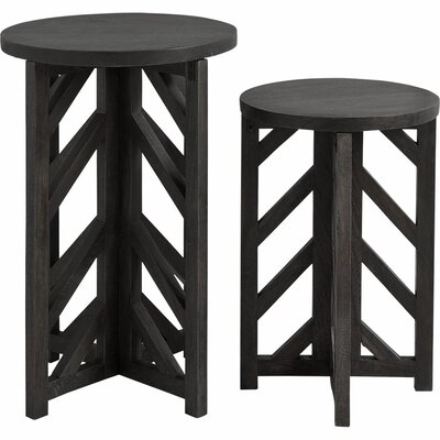 Mercana Anacaona I 2 Piece Semi Nesting Tables