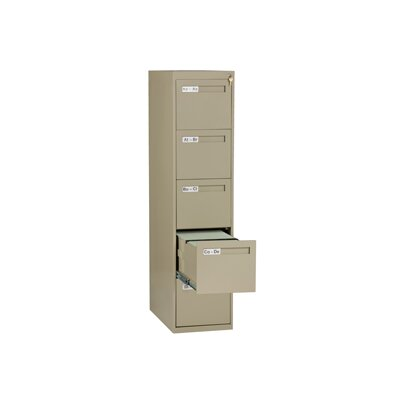 Tennsco Corp. 5 Drawer Vertical Letter Size File Cabinet
