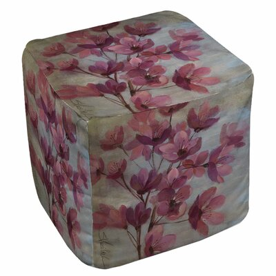 Manual Woodworkers & Weavers April Blooms 2 Ottoman