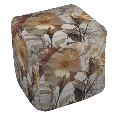 Manual Woodworkers & Weavers Blooming Days Ottoman