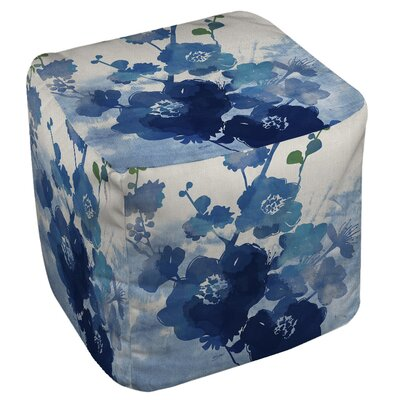 Manual Woodworkers & Weavers Streams of Blues Ottoman