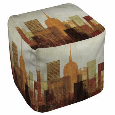 Manual Woodworkers & Weavers Summer in the City Pouf Ottoman
