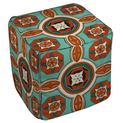 Manual Woodworkers & Weavers Tuscan Tile 4 Ottoman