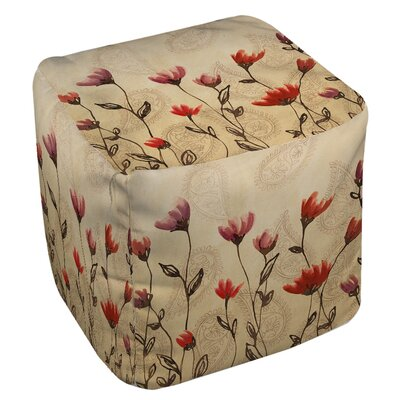 Manual Woodworkers & Weavers Floral Paisley Stems Ottoman