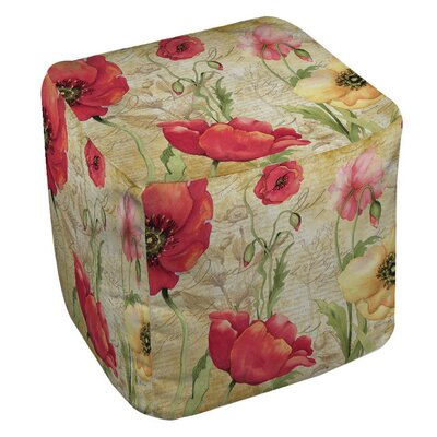 Manual Woodworkers & Weavers Large Poppy Heads Ottoman