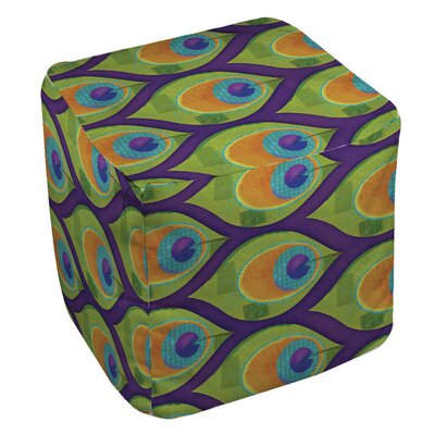 Manual Woodworkers & Weavers Peacock Pattern 10 Ottoman