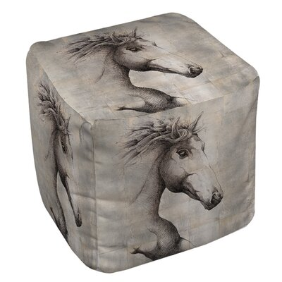 Manual Woodworkers & Weavers Run with the Wind Ottoman