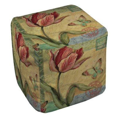 Manual Woodworkers & Weavers Sketchbook Floral Tulip Ottoman