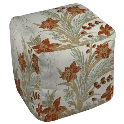 Manual Woodworkers & Weavers Garden Tile 3 Ottoman