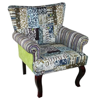 ESSENTIAL D?COR & BEYOND, INC Fabric Wooden Arm Chair