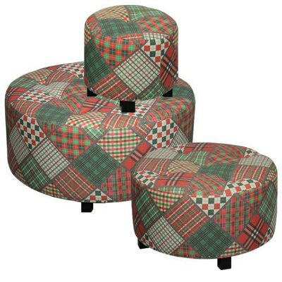 ESSENTIAL DÉCOR & BEYOND, INC 3 Piece Ottoman Set