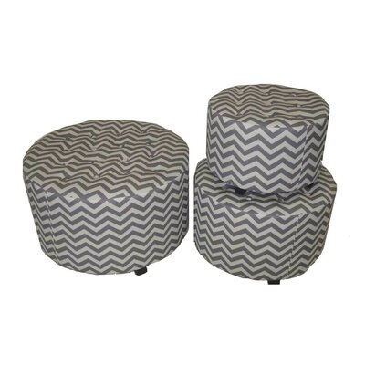 ESSENTIAL DÉCOR & BEYOND, INC 3 Piece Round Ottoman Set