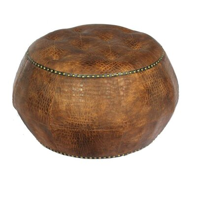 ESSENTIAL DÉCOR & BEYOND, INC Leather Ottoman