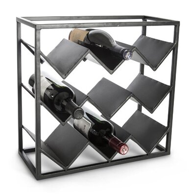 Lone Elm Studios 9 Bottle Tabletop Wine Rack