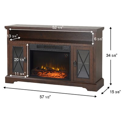 Homestar Padova TV Stand with Electric Fireplace
