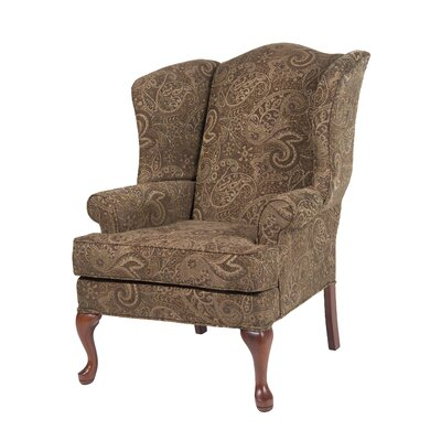 Comfort Pointe Paisley Wing Back Chair