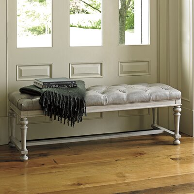 Lexington Oyster Bay Bellport Leather Bench