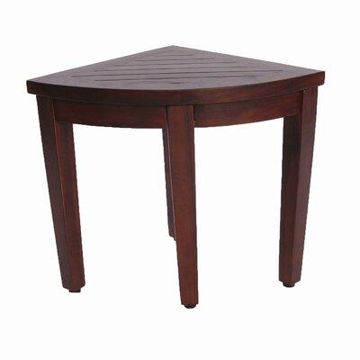 decoteak oasis teak corner shower seat stool shower seat u0026 reviews wayfair