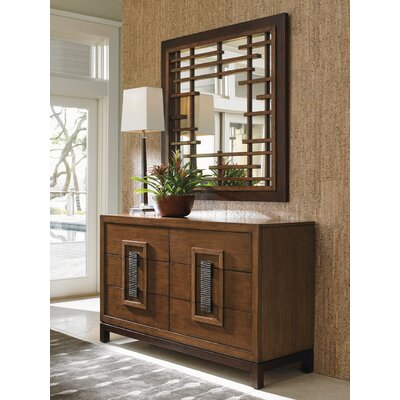 Tommy Bahama Home Island Fusion 6 Drawer Dresser with Mirror