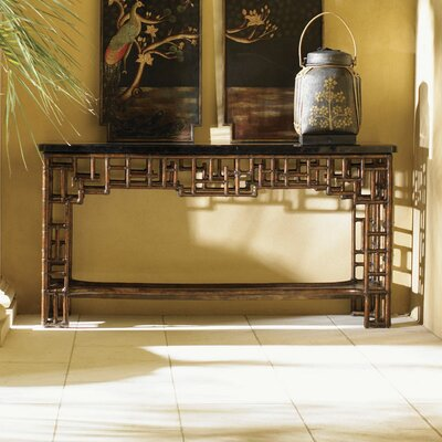 Tommy Bahama Home Royal Kahala Mystic Leather Console Table