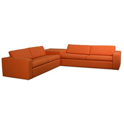 TrueModern Marfa Corner Sectional Sofa with Cube