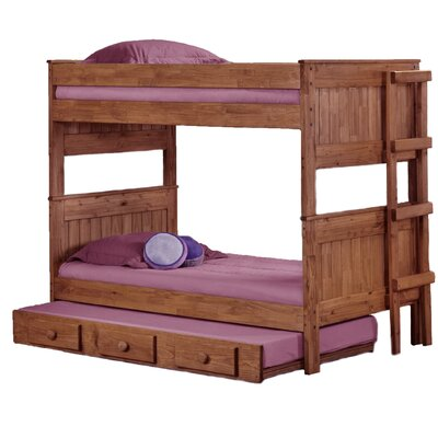 Chelsea Home Twin Bunk Bed with Trundle
