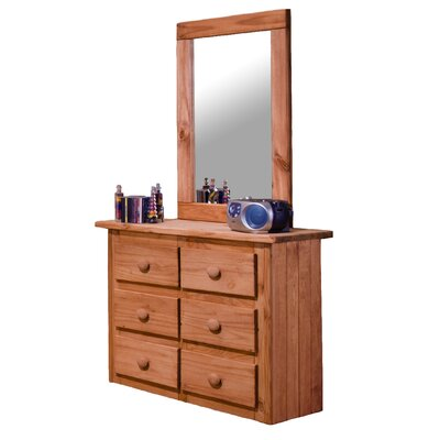 Chelsea Home Mini 6 Drawer Dresser with Mirror