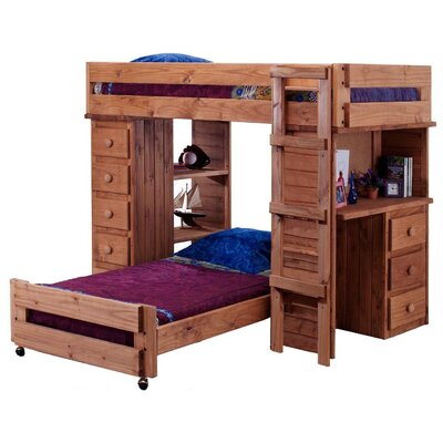 Chelsea Home Twin L-Shaped Bunk Bed