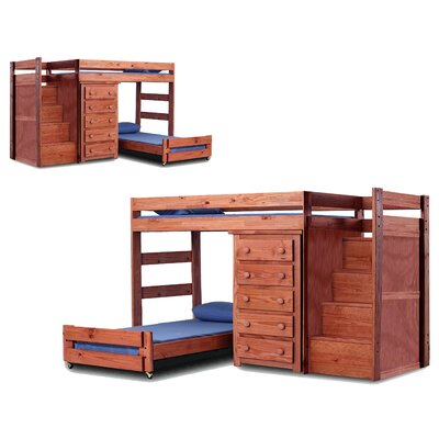 Chelsea Home Twin L-Shaped Bunk Bed with Storage