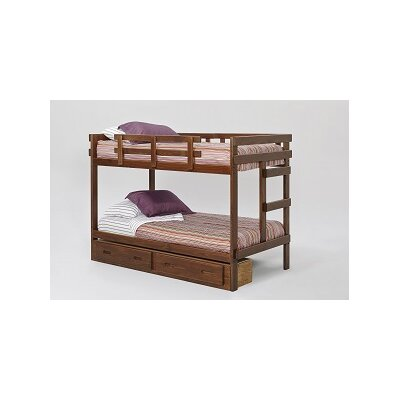 Chelsea Home Twin Over Twin Bed with Storage