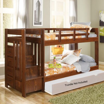Chelsea Home Twin Over Twin Bunk Bed with Revers..