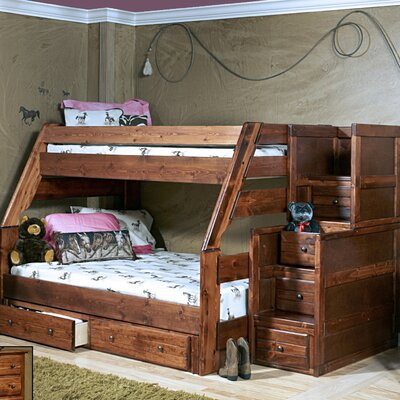 Chelsea Home Twin over Full Bunk Bed with Storage