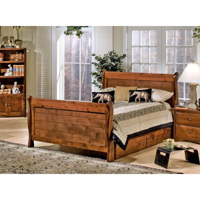 Chelsea Home Full Sleigh Bed with Storage