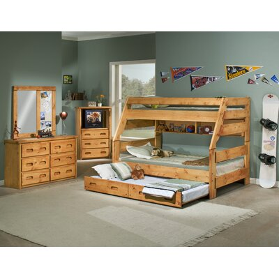 Chelsea Home Twin over Full Bunk Bed with Trundle