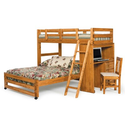 Chelsea Home Twin over Full L-Shaped Bunk Bed