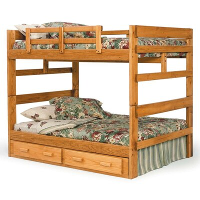 Chelsea Home Full over Full Bunk Bed with Storage