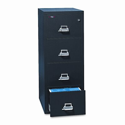 FireKing Fireproof Insulated 4-Drawer Vertical File Image