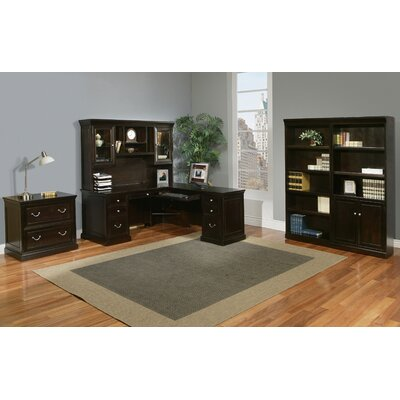 kathy ireland Home by Martin Furniture Fulton 5-Piece L-Shape Desk Office Suite