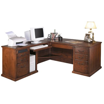 Kathy ireland home by martin furniture huntington oxford left l shaped executive desk reviews - Martin home office furniture ...
