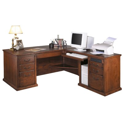 Kathy ireland home by martin furniture huntington oxford right l shaped executive desk reviews - Martin home office furniture ...