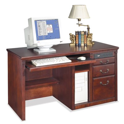 kathy ireland Home by Martin Furniture Huntington Club Single Pedestal Computer Desk