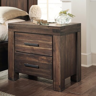Loon Peak Gibson 2 Drawer Nightstand