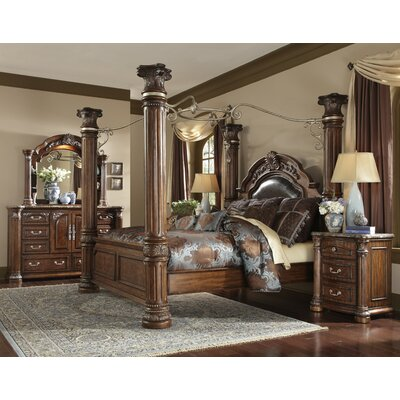 Michael Amini Monte Carlo II Canopy Customizable Bedroom Set