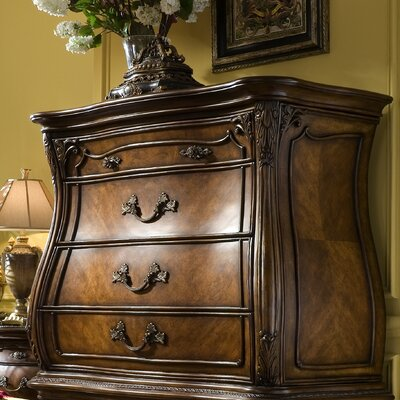 Michael Amini Palais 6 Drawer Gentleman's Chest Top