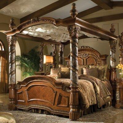 Michael Amini Villa Valencia Canopy Bed
